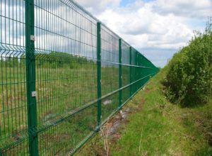Монтаж ограды из сварной сетки