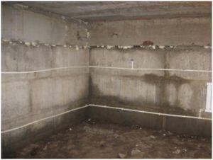 Промерзание неутеплённых стен фундамента изнутри