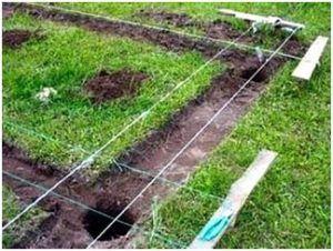 Снятие растительного слоя перед устройством столбчатого фундамента