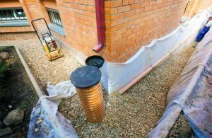 Дренажная система для укрепления фундамента дома