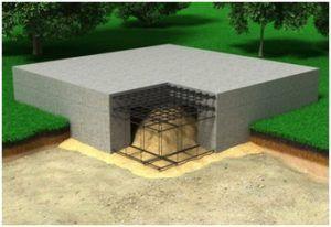 Схема ленточного фундамента с монолитной плитой