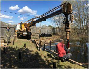 Монтаж зачастую осуществляется при помощи специального оборудования.