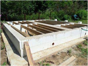 Фундамент, выполненный с применением несъемной опалубки