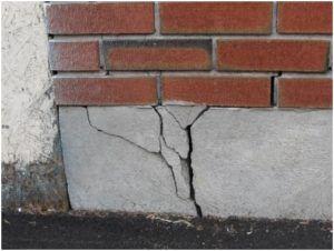 Раскол бетонной заливки