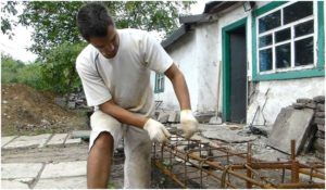 Подготовка арматурного каркаса