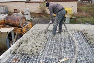 Заливка монолитной плиты