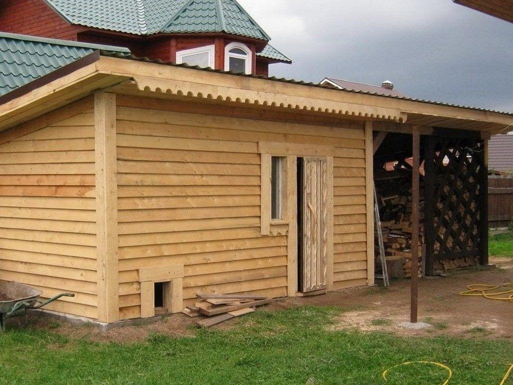 Деревянный сарай на ленточном фундаменте