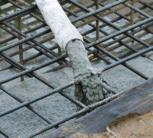 залить бетон