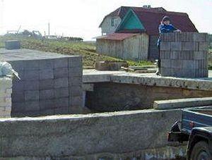 Постройка дома из керамзитобетона.