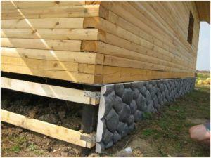 Монтаж на деревянный брус