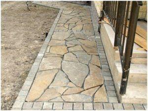 Использование тротуарной плитки для облицовки