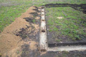 Готовые ямы для заливки фундамента