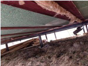 Утепленный пол деревянного дома на винтовых сваях