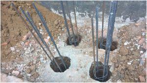 Изготовление железобетонных свай в грунте