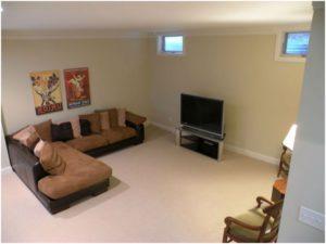 Комната отдыха в цокольном помещении