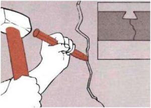 Расчистка простой трещины