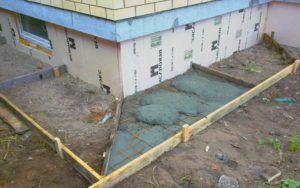 Опалубка под заливку бетона.