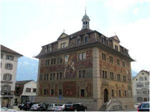 Швиц – ратуша, покрашенная силикатной краской