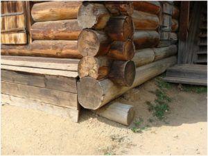 Вид деревянного фундамента