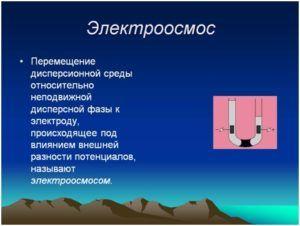 Принцип технологии электроосмоса