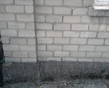 Разрушение стен дома от неравномерной осадки фундамента