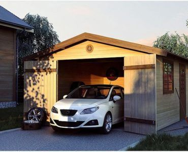 Общий вид каркасного гаража
