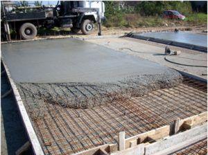 Бетонирование фундаментной плиты