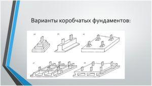 Разновидности коробчатых фундаментов