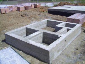 Готовый фундамент для легкого здания