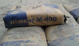 Маркированные мешки с цементом